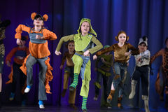 Children dancing on stage Royalty Free Stock Photography