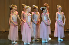 Children dancing on stage Stock Photos