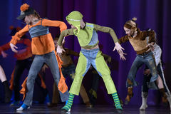 Children dancing on stage Stock Image