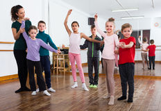 Children dancing tango Royalty Free Stock Photos