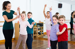 Children dancing tango Royalty Free Stock Images