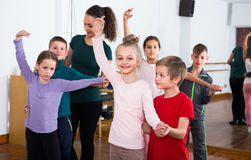 Children dancing tango Stock Images