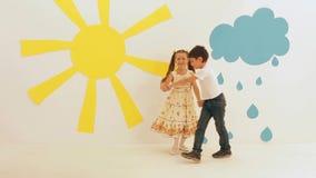 Children Dancing stock video footage