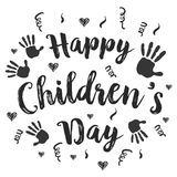 Children day hand draw style vector art Stock Photos