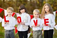 Children with decor Stock Photos