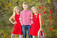 Children with decor Royalty Free Stock Photos