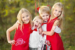 Children with decor Royalty Free Stock Image