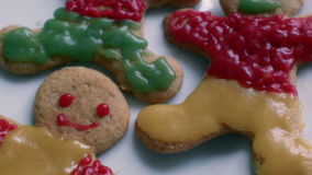 Children decorate cookies stock video