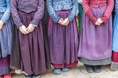 Children in Den Gamle By Royalty Free Stock Photography
