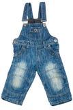 Children denim overalls Stock Photo