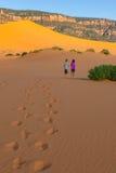 Children in desert Royalty Free Stock Photo