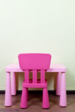 Children desk and chair Royalty Free Stock Photos