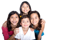 Children from different background in studio. Group of young children from different background in studio Stock Photos