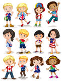 Children from different countries. Illustration Royalty Free Stock Photo