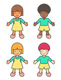 Children Of Different Ethnicities Royalty Free Stock Photography