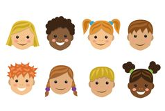 Children of different nations Stock Photo