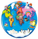 Children in different parts of the world Royalty Free Stock Photos