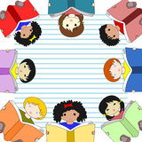 Children of different races reading books Royalty Free Stock Photography