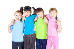Children in different T-shirts stock image
