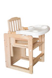 Children dining chair. A Highchair,isolated on white background Royalty Free Stock Photos