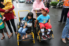 Children with disabilities Stock Photo
