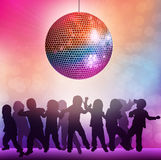 Children at the disco Royalty Free Stock Image