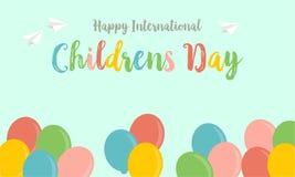 Children dnia kartka z pozdrowieniami tła styl