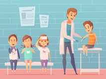 Children At Doctors Illustration Royalty Free Stock Images