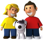 Children and dog Stock Photos