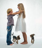 Children with the dog Royalty Free Stock Photos