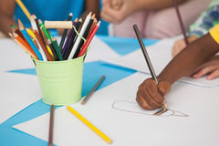 Children doing arts and crafts Royalty Free Stock Photo