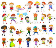 Children doing different activities Stock Photography