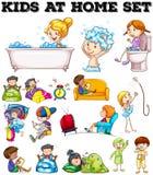 Children doing different activities Stock Image