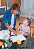 Children doing homework Royalty Free Stock Images