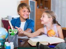 Children doing homework Stock Photo
