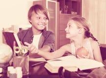 Children doing homework Stock Image