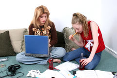 Children Doing Homework Together Royalty Free Stock Photography