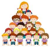 Children doing human pyramid Stock Photos