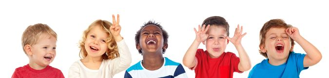 Free Children Doing Joke And Laughing Stock Images - 122596144