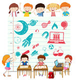 Children doing science at school Royalty Free Stock Images
