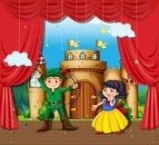 Children doing stage drama. Illustration Stock Photography