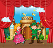 Children doing stage play Royalty Free Stock Photography