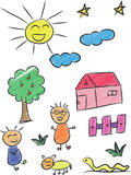 Children Doodle 3 Stock Images