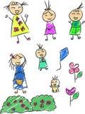 Children Doodle Stock Image