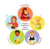 Children with Down syndrome development Royalty Free Stock Photo