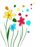 Children Draw Flowers Stock Image