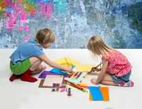 Children draw Royalty Free Stock Image