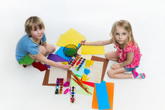 Children draw Stock Photo