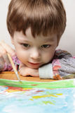 Children draw picture Stock Photography