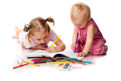 Children drawing Royalty Free Stock Image